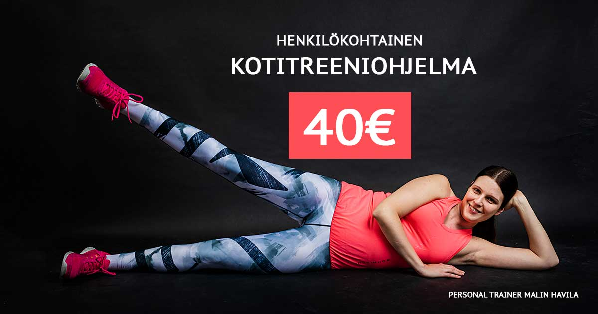 Kotitreeniohjelma 40€